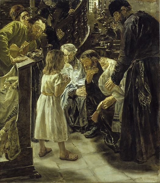 The twelve year old Jesus in the temple   Max Liebermann   oil painting