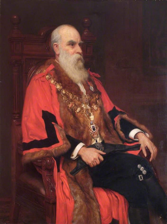 William John Lancaster Mayor of Wandsworth | Charles Ernest Butler | oil painting