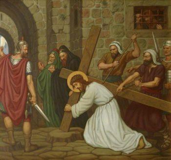 Jesus Falls beneath the Cross | Edward Arthur Fellowes Prynne | oil painting