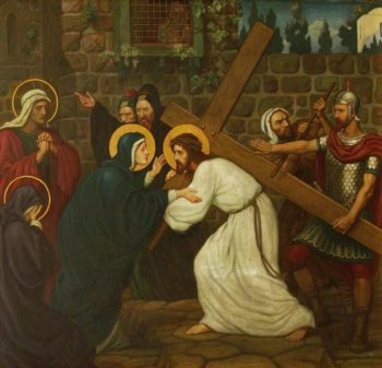Jesus Meets His Mother | Edward Arthur Fellowes Prynne | oil painting