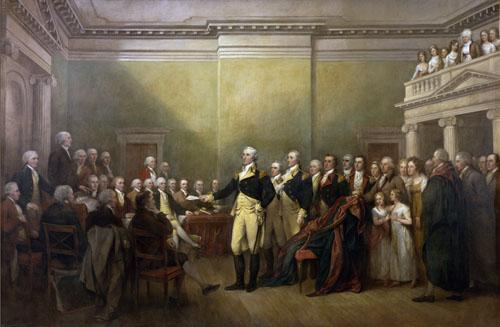 George Washington Resigning His Commission | John Trumbull | oil painting