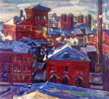 Moscow View Toward the Factory | Abraham A Manievich | oil painting