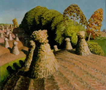 Iowa Corn Field | Grant Wood | oil painting