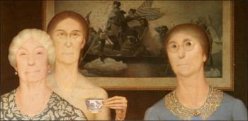 Daughters of_revolution | Grant Wood | oil painting