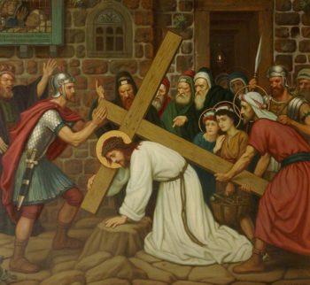 Simon Helps to Bear the Cross | Edward Arthur Fellowes Prynne | oil painting