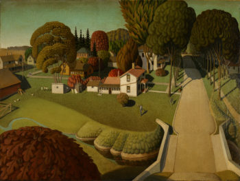 Birthplace of Herbert Hoover | Grant Wood | oil painting