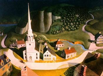 The Midnight Ride of Paul Revere 1931 | Grant Wood | oil painting