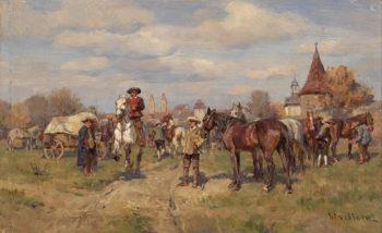 Horse Auction | Wilhelm Velten | oil painting