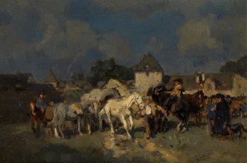 Horse Market | Wilhelm Velten | oil painting