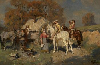 Horsemen | Wilhelm Velten | oil painting