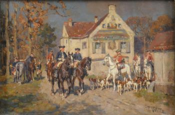 Riders with Hounds | Wilhelm Velten | oil painting