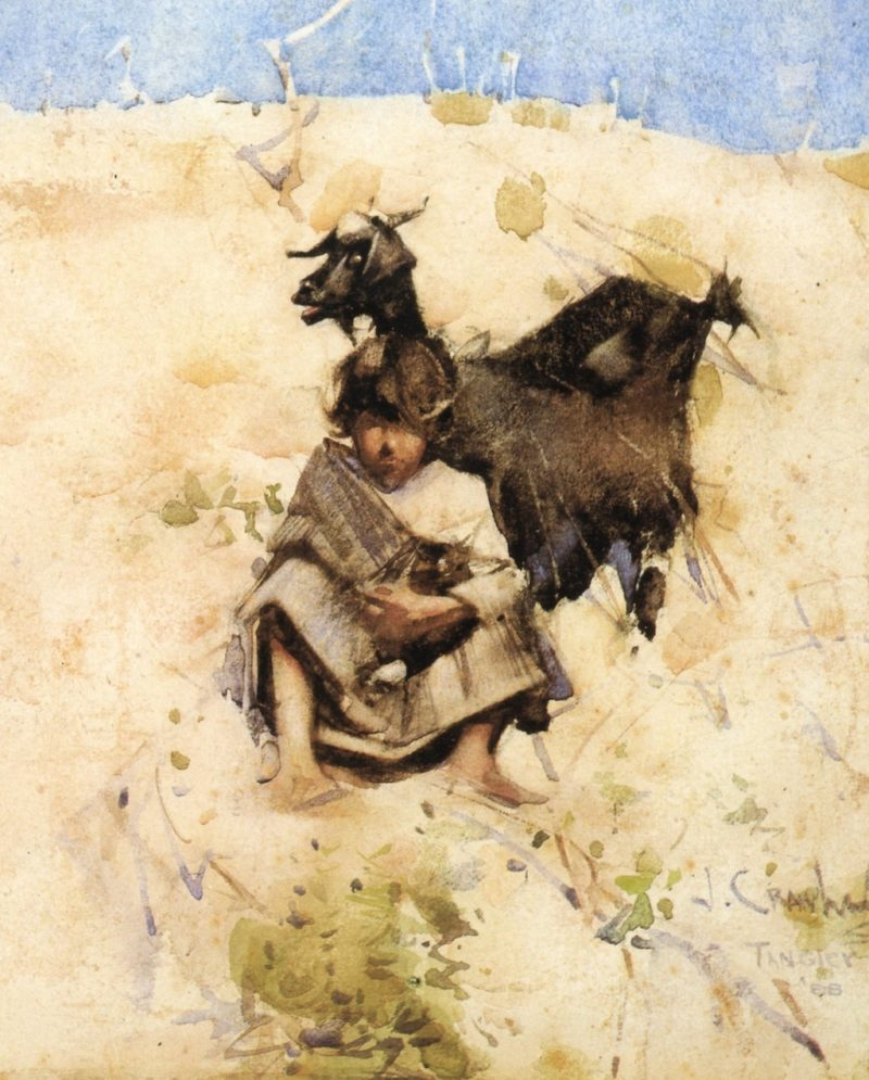 The Goatherd | Joseph Crawhall | oil painting