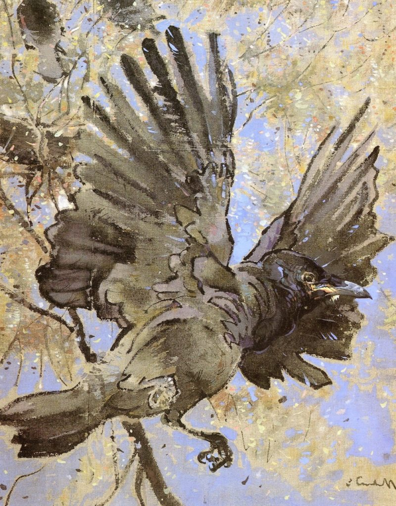 The Rooks Nest | Joseph Crawhall | oil painting