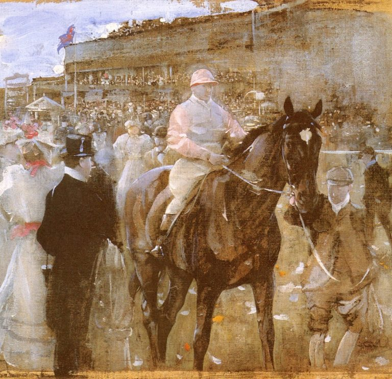 The Race Course | Joseph Crawhall | oil painting