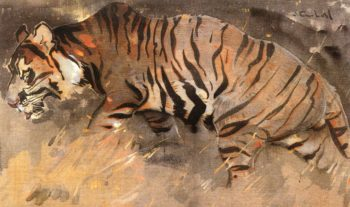 The Tiger | Joseph Crawhall | oil painting
