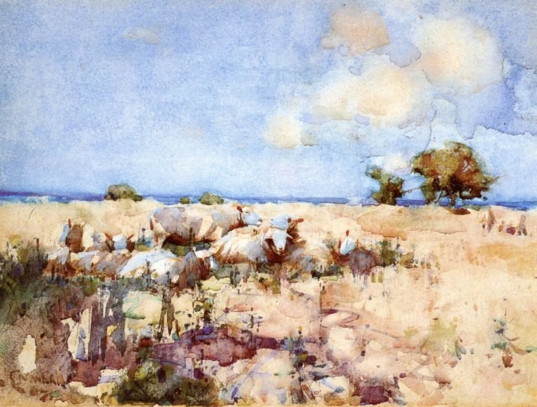 Sheep in a Meadow | Joseph Crawhall | oil painting