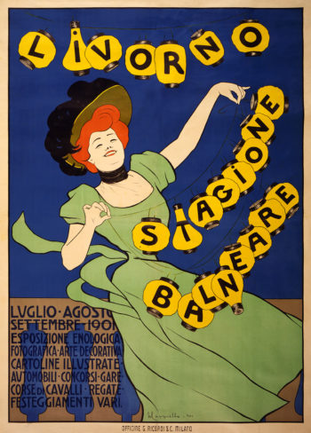 Livorno Stagione Balneare | Leonetto Cappiello | oil painting