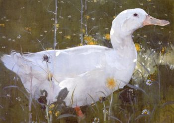 The White Drake | Joseph Crawhall | oil painting