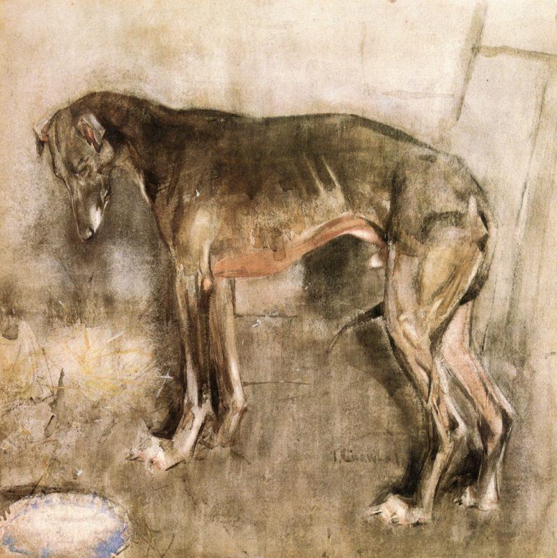 The Greyhound | Joseph Crawhall | oil painting