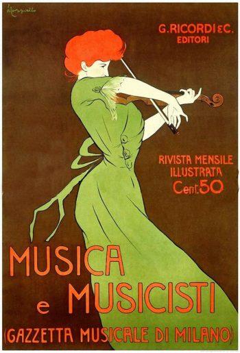 Musica e Musicisti | Leonetto Cappiello | oil painting