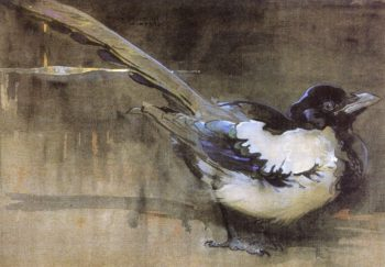 The Magpie | Joseph Crawhall | oil painting