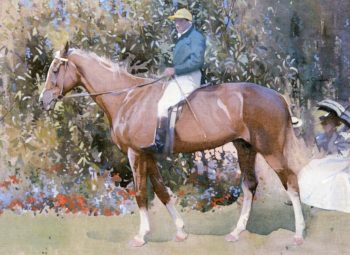 In the Paddock | Joseph Crawhall | oil painting