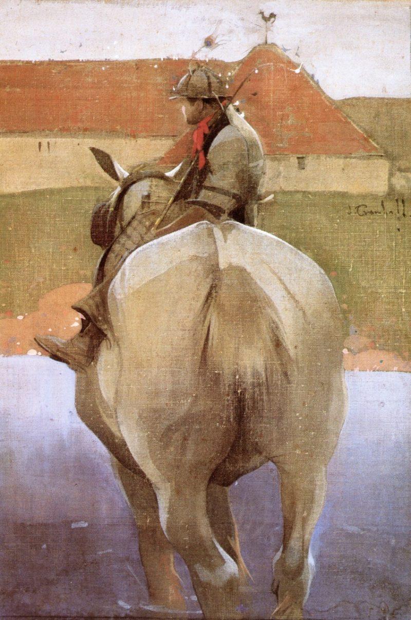 The Farmers Boy | Joseph Crawhall | oil painting