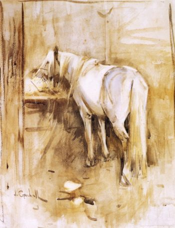 Barb Horse in Stable | Joseph Crawhall | oil painting