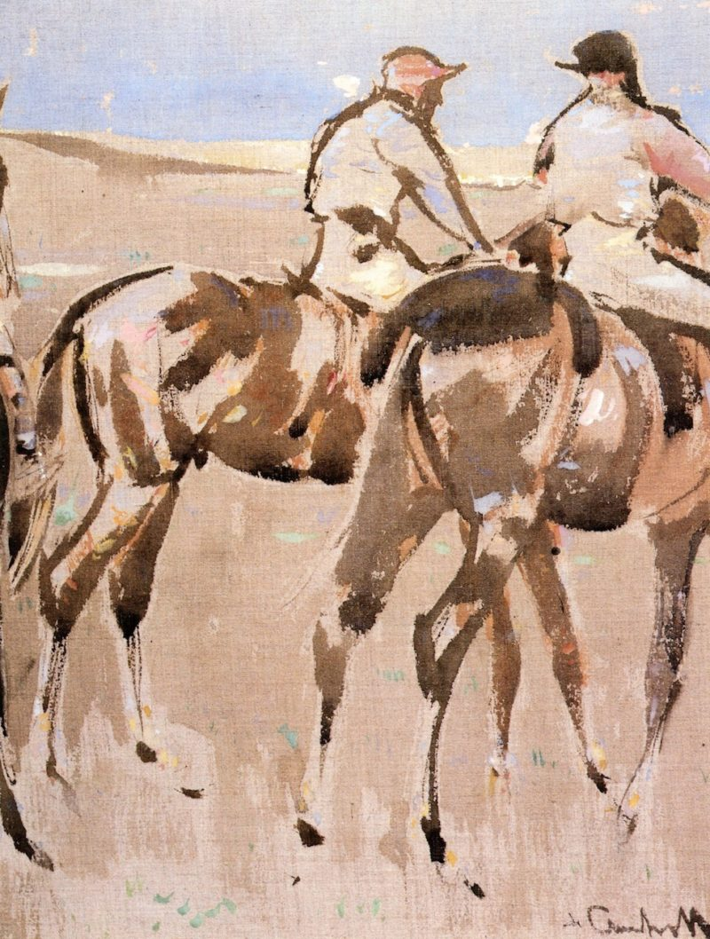 American Jockeys | Joseph Crawhall | oil painting