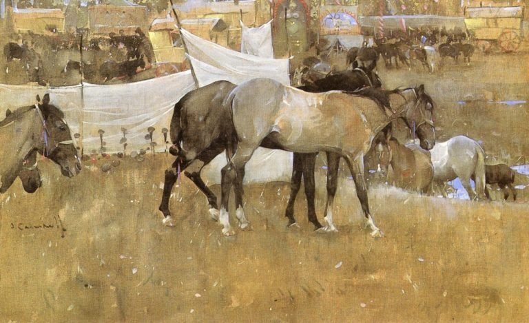 Barnet Fair | Joseph Crawhall | oil painting