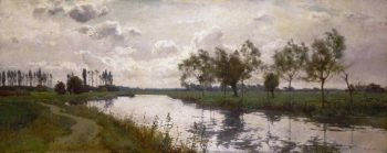 River and Towpath   Alfred Parsons   oil painting