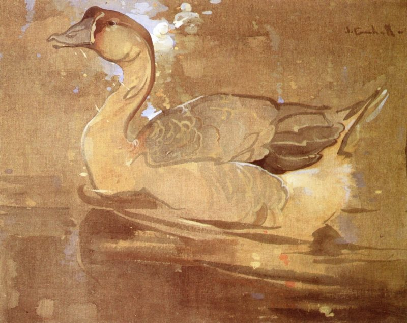 The Chinese Goose | Joseph Crawhall | oil painting