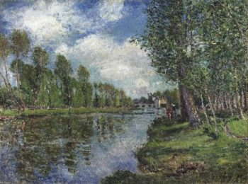 Banks of the Loing River | Alfred Sisley | oil painting
