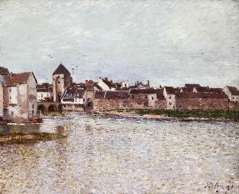 Bridge at Moret-sur-Loing | Alfred Sisley | oil painting