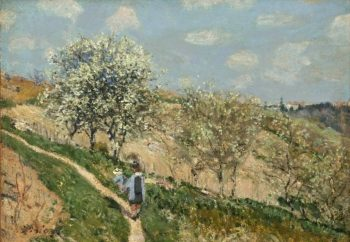 Landscape (Spring at Bougival)   Alfred Sisley   oil painting