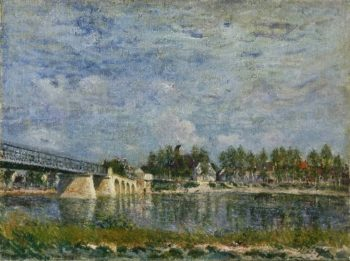 The Bridge at Saint-Mammes | Alfred Sisley | oil painting