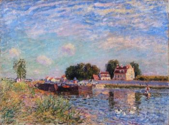 The Canal at Saint-Mammes | Alfred Sisley | oil painting