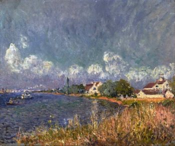 The Seine at Billancourt | Alfred Sisley | oil painting