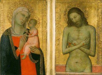 Virgin and Child   Allegretto di Nuzio also called Allegretto Nuzi   oil painting