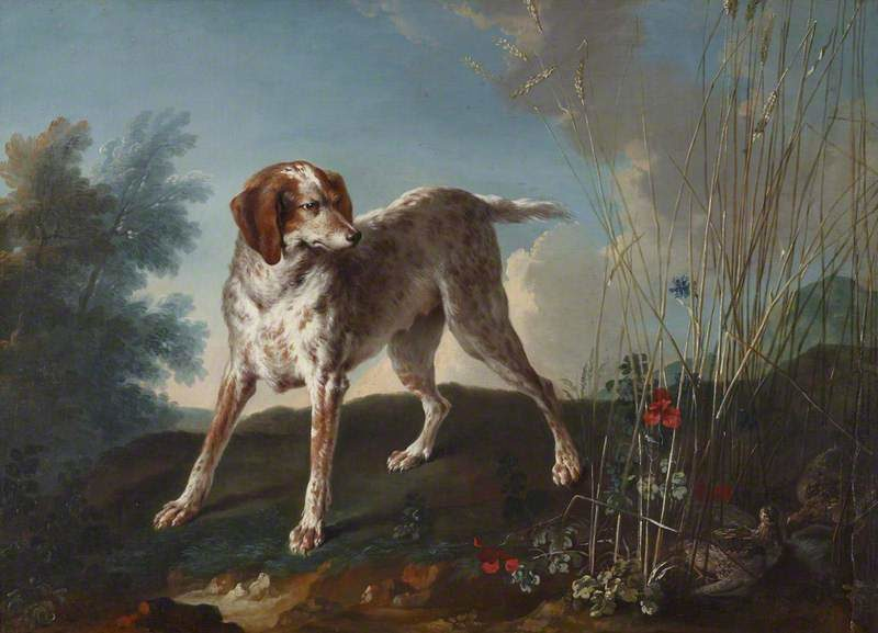 A Pointer and Partridges | Jean Baptiste Oudry | oil painting