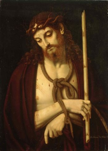 Christ Bound and Crowned with Thorns | Andrea Solario | oil painting
