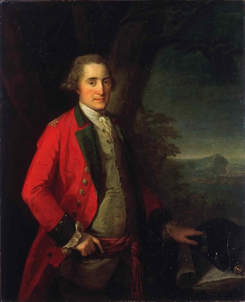 Portrait of Lieutenant General James Cuninghame | Angelica Kauffman | oil painting