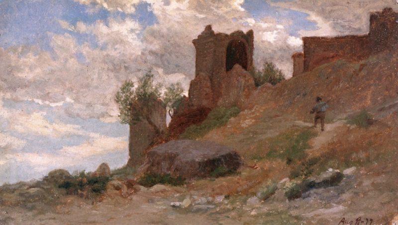 Mount Colognola near Perugia | Elihu Vedder | oil painting
