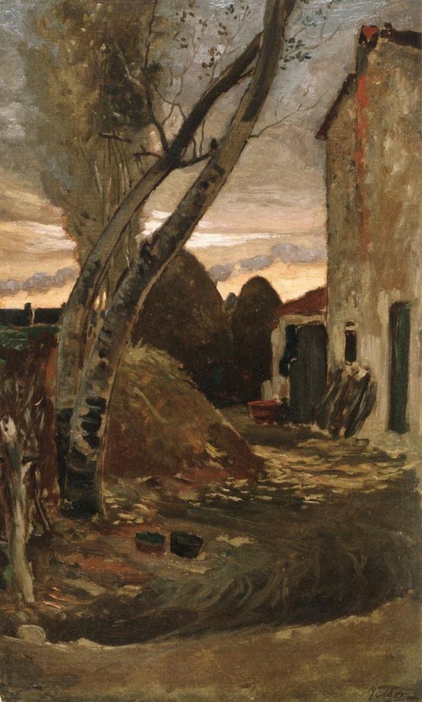 Leaning Trees near Viareggio | Elihu Vedder | oil painting