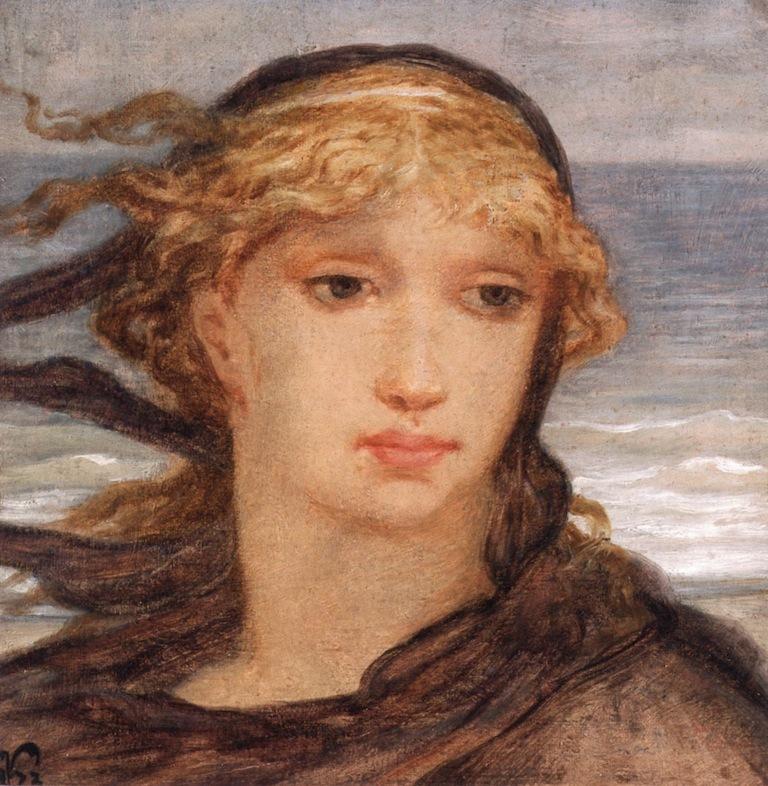 Roman Woman | Elihu Vedder | oil painting
