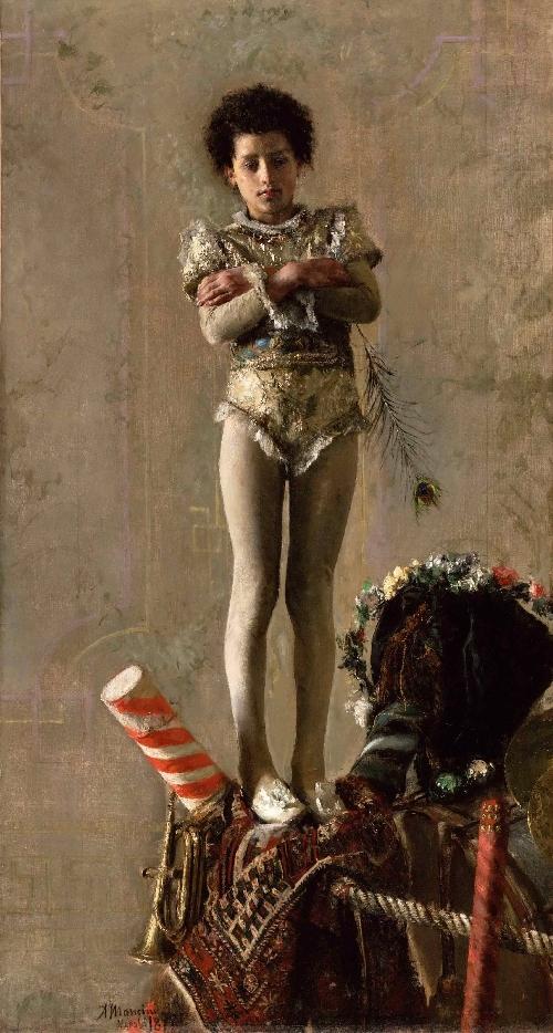 Il Saltimbanco | Antonio Mancini | oil painting