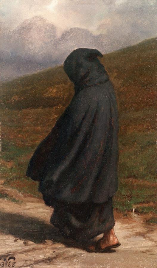 The Gloomy Path | Elihu Vedder | oil painting