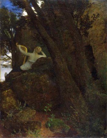Sappho | Arnold Bocklin | oil painting