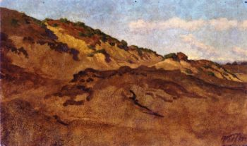Hillside Between Perugia and Gubbio Italy | Elihu Vedder | oil painting