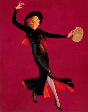 Tambourine Dancer | Edward Mason Eggleston | oil painting